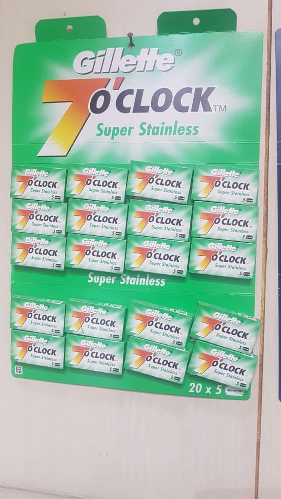 7 O'clock Super Stainless Double Edge Safety Razor Blades